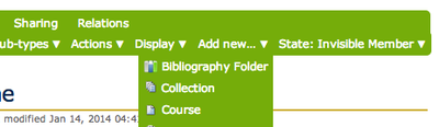 Add New Bibliography Folder