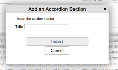 accordion section